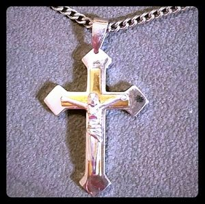 Other - 14ct gold & silver cross